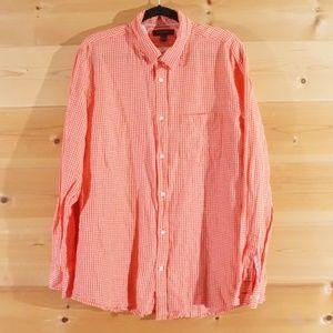 Banana Republic Long Sleeve Orange Dress Shirt XL